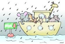 Chuva causa inundações em londrina.
