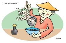 Lula visita a China.
