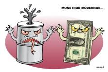 Dólar e preço do petróleo nas alturas.
