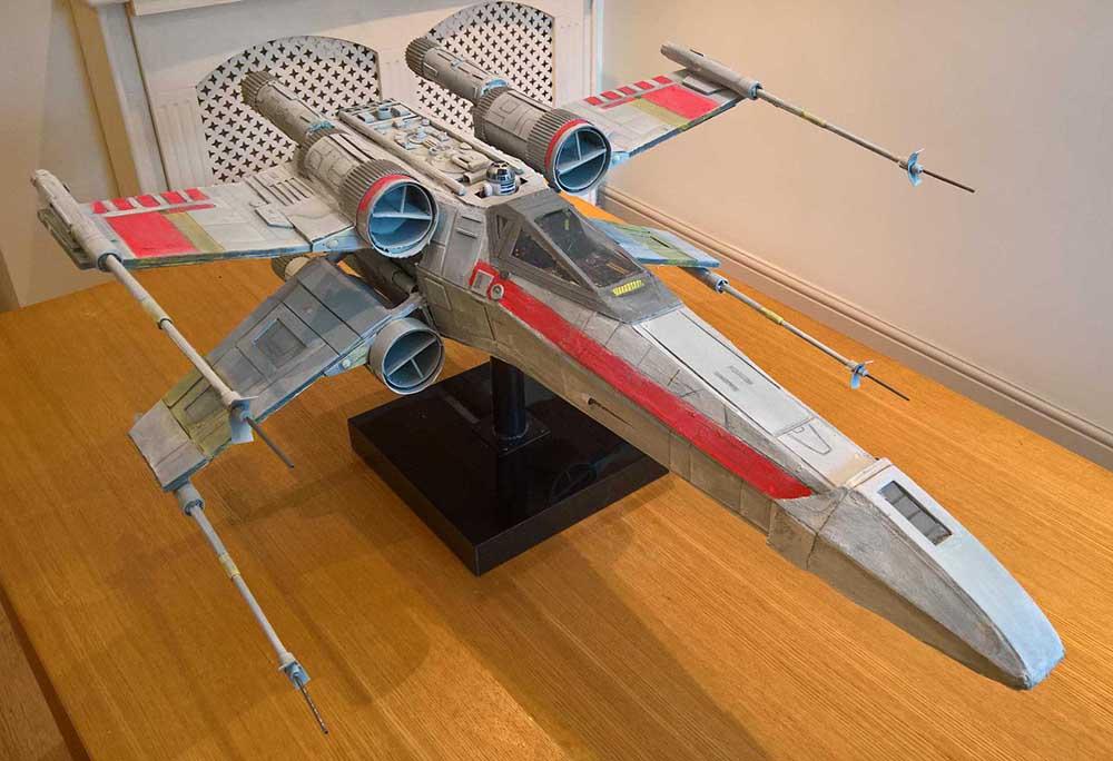 Star Wars scratch built X-Wing fighter model