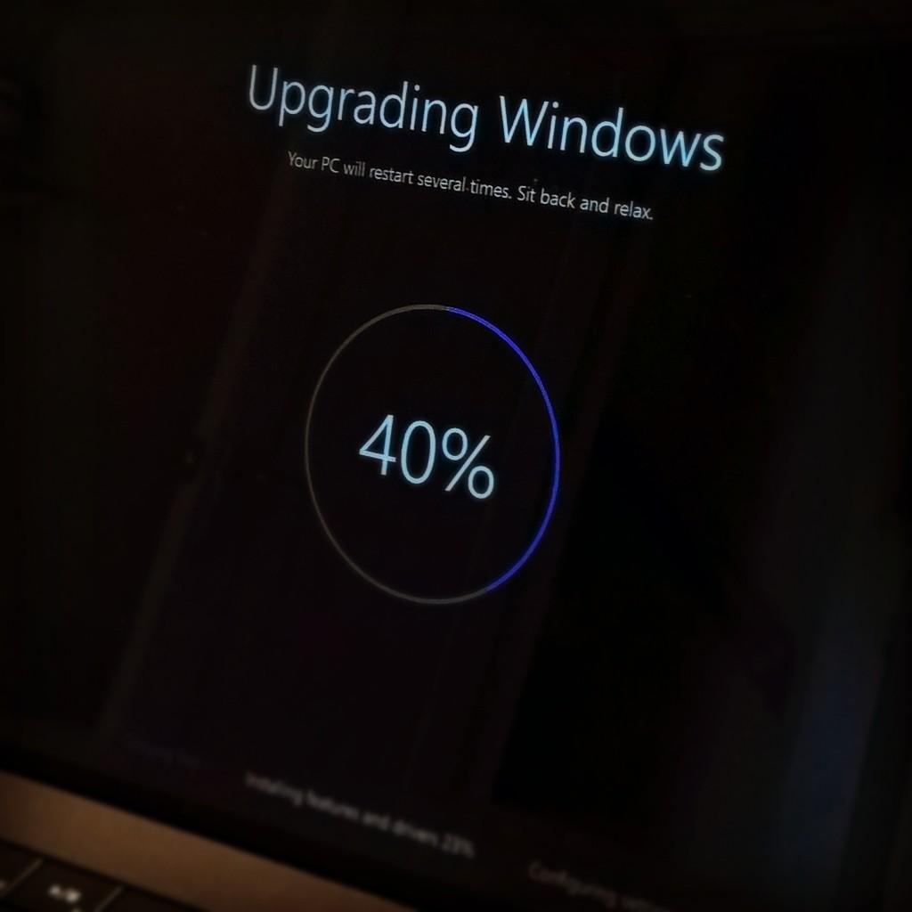 Upgrading to Windows 10.