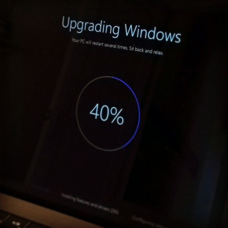 Upgrading to Windows 10.