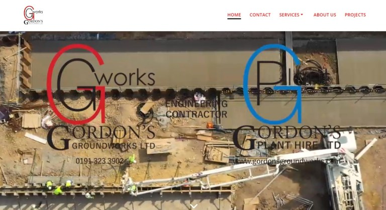 Gordon's Groundworks website