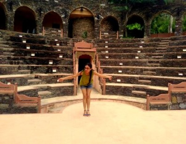 Amphitheatre in Neemrana Fort Palace, Rajasthan, India.