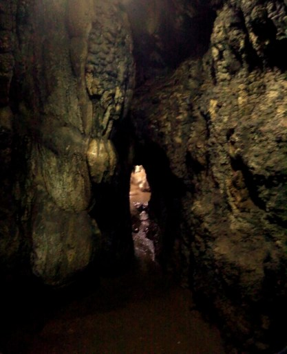 Spooky rock formations showing the way ahead.... Mawsmai Caves, Meghalaya, India.