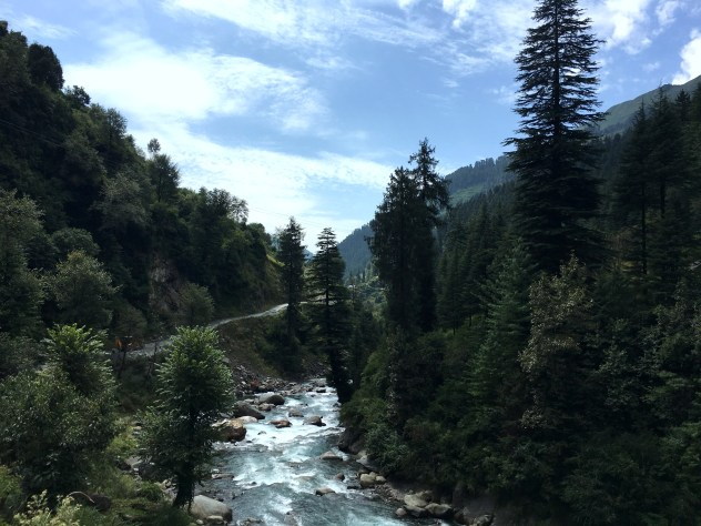The route from Lohardi village to the Project area, Himachal Pradesh, India