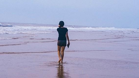 Careless at Vagator beach, Goa, India