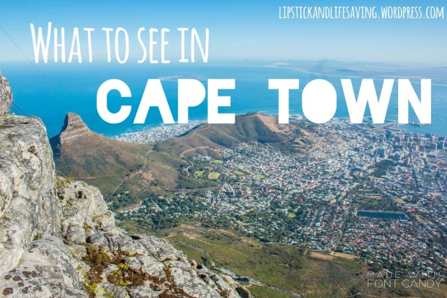 What to see Cape Town South Africa