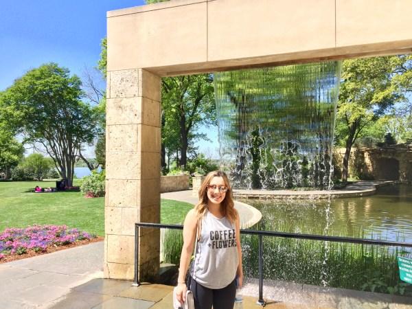Dallas arboretum fountain
