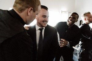 groomsmen wedding prep
