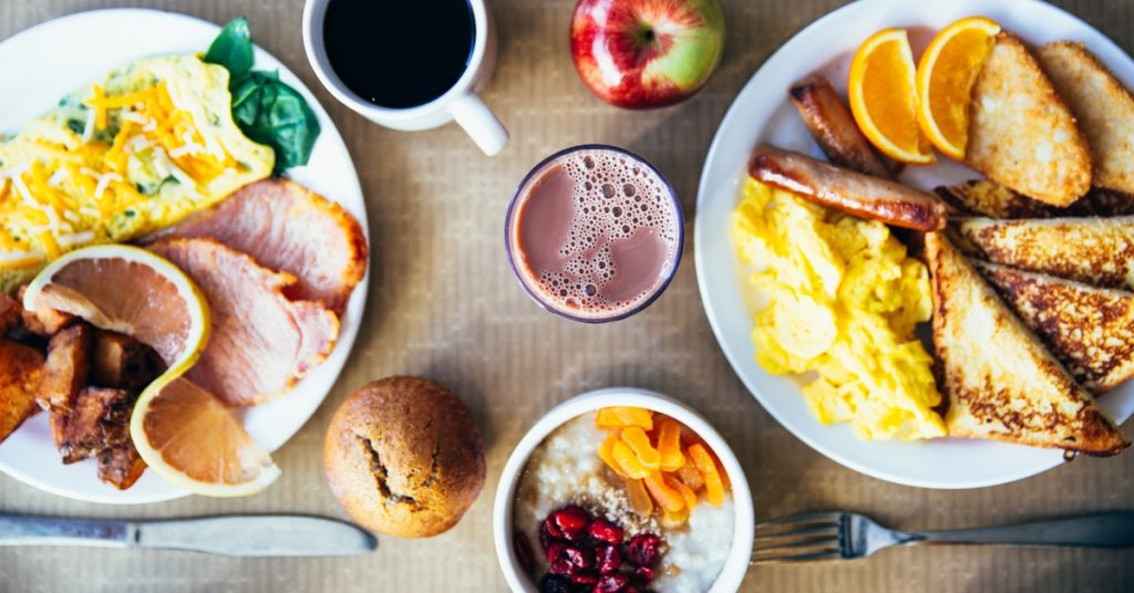 Good breakfast to keep you motivated