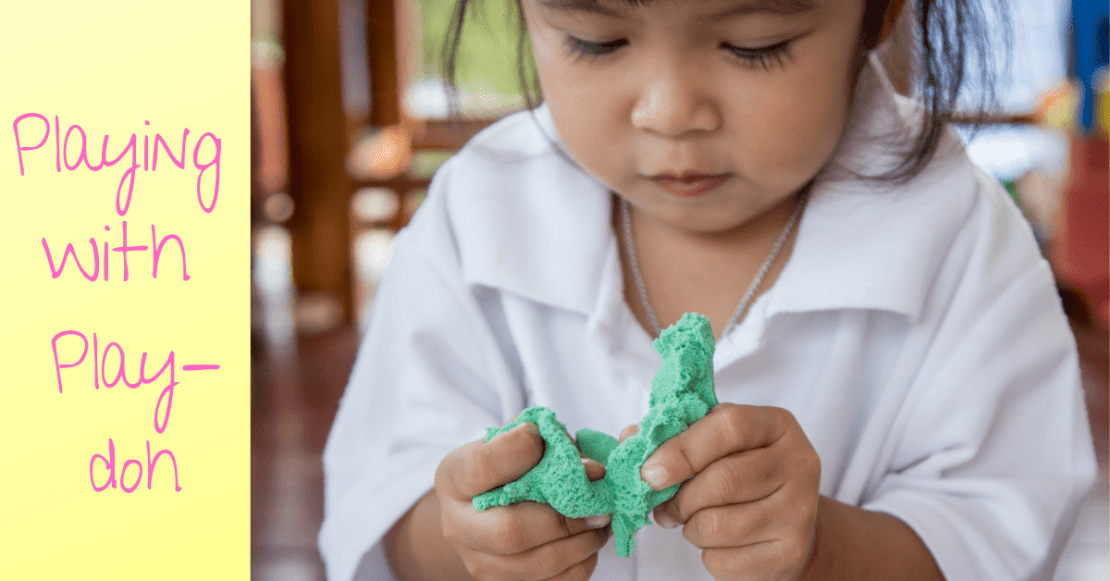 Entertain your toddler with Play-doh activities