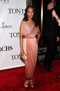 Kerry Washington Emanuel Ungaro Tony Awards Judith Leiber clutch Movado watch