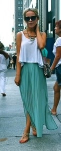 Mermaid Maxi Pleated Street Style
