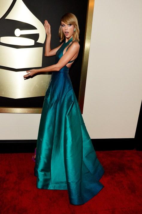 Taylor Swift 2015 Grammys Elie Saab