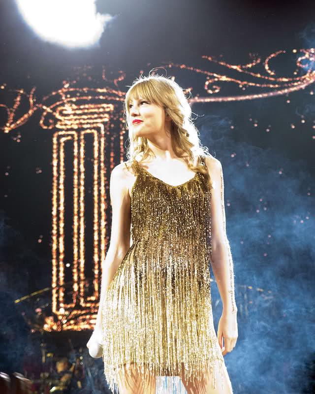 Taylor Swift Gold Ombre Fringe Dress Speak Now Tour ...