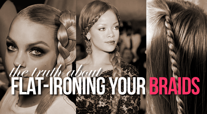 flat ironing your braids feature