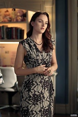 Blair-Waldorf-Gossip-Girl-Clothes-Dress-Bensoni-Black-Gray-Lace
