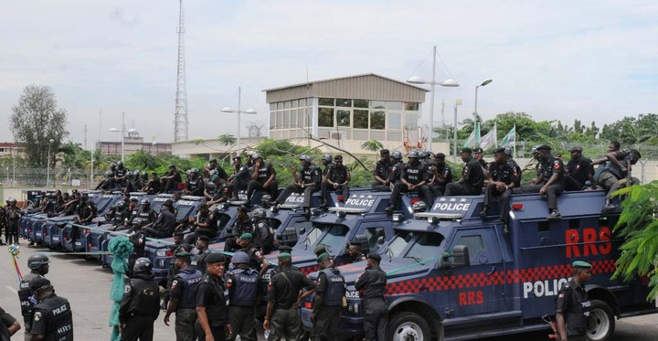 PIC 13. SOME OF THE ARMOURED PERSONNEL CARRIERS INAUGURATED BY GOV. BABATUNDE FASHOLA OF LAGOS STATE IN LAGOS ON TUESDAY (25/10/11).
