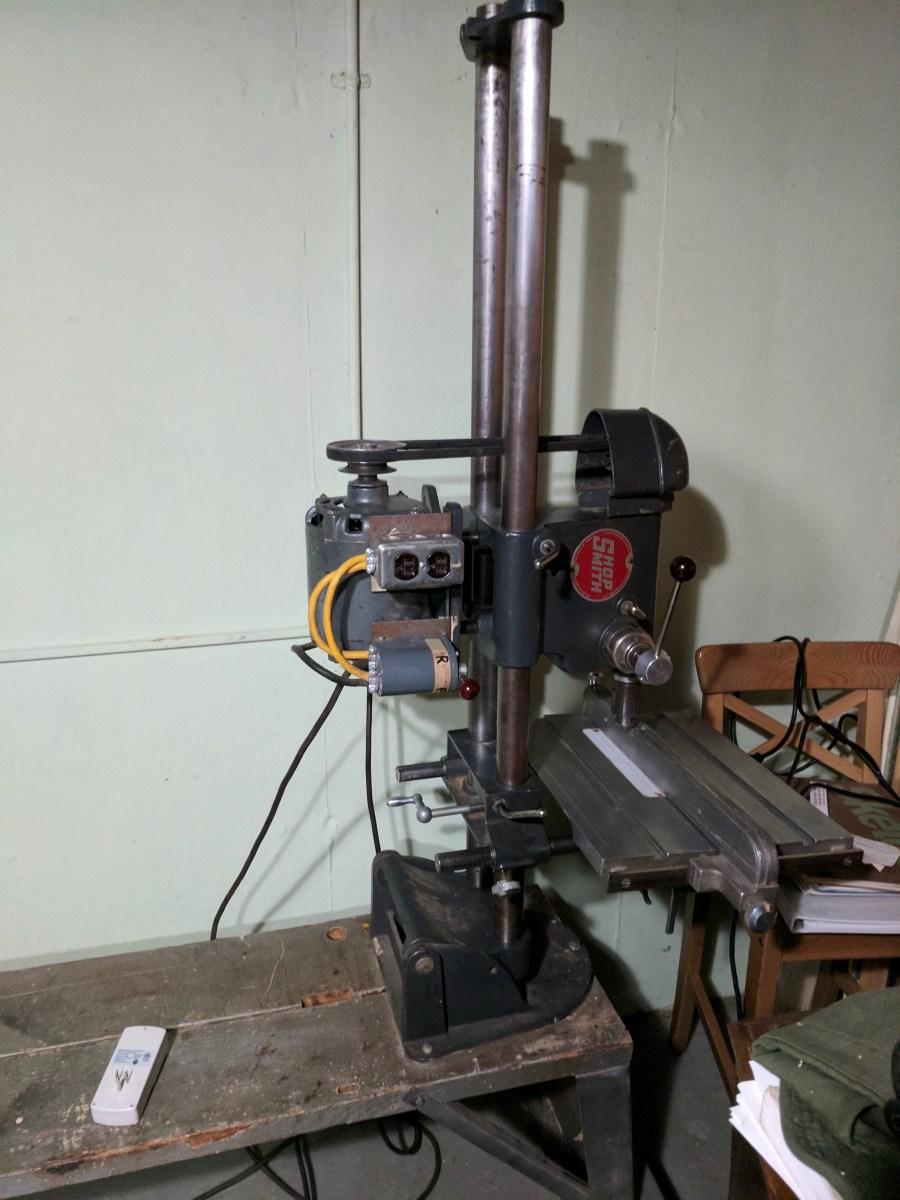 ShopSmith 10ER, Drill Press Mode