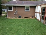 The back of the house, mulched