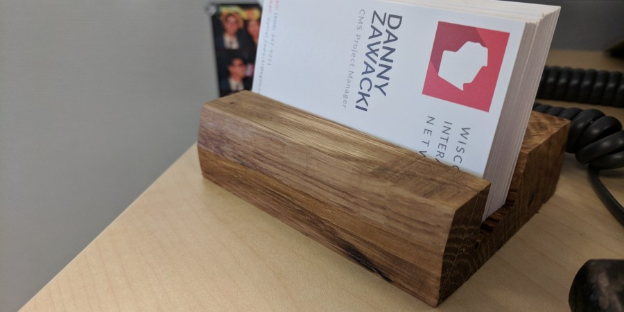 Business Card Holder with cards