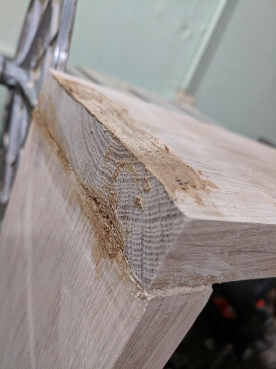 Back of Stove Shelf Glue up