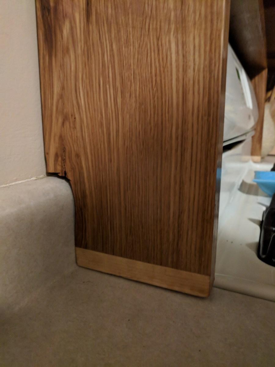 Back of Stove Shelf Snug to Counter top