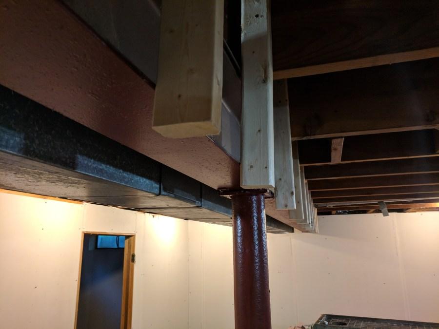 Basement HVAC Casing Uprights