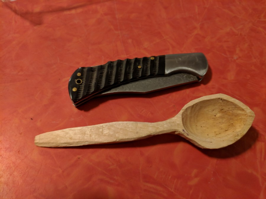 Spoon carving finished