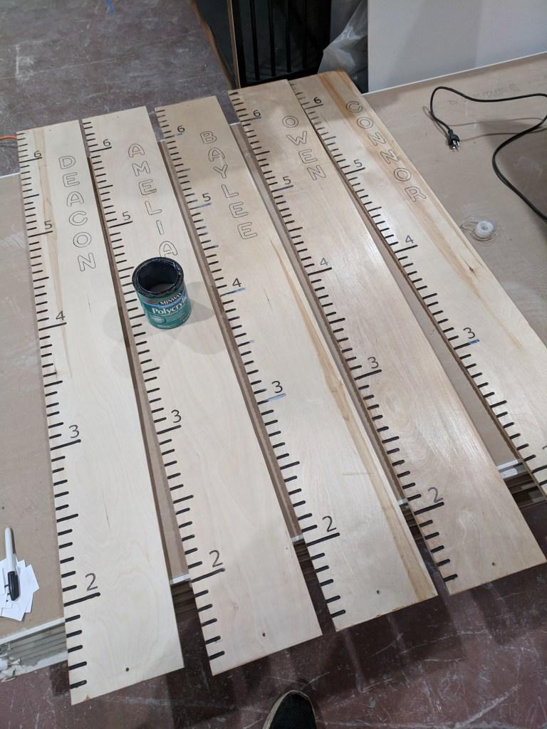 Growth rulers polyurethane