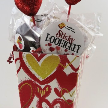 Red and Gold Heart Basket