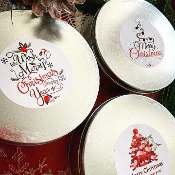Christmas Tin One Pound Toffee Bark