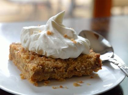Dutch Apple Pie Toffee Oat Bar