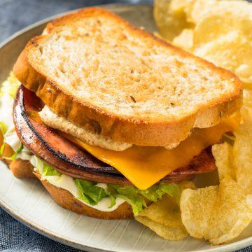 Fried Bologna Sandwich
