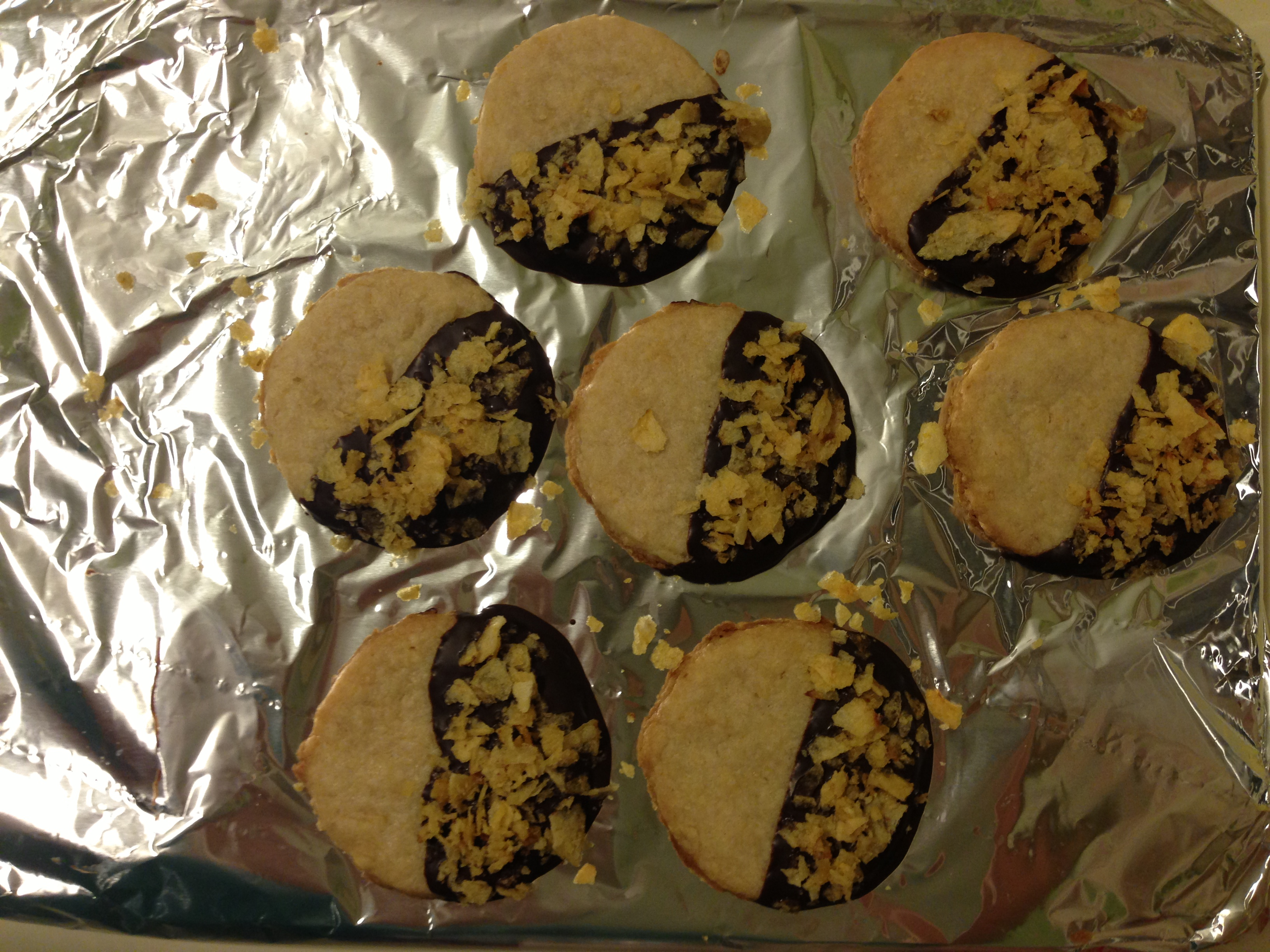 Chocolate Dipped Potato Chip Cookie   Sassy Southern Yankee