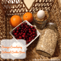 Orange Cranberry Oatmeal Cookie Bars