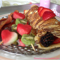 Almond Crepes with Fresh Berries from Sassy Southern Yankee