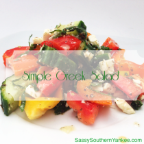 Simple Greek Salad from Sassy Southern Yankee
