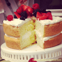 Limoncello Cake with fresh berries from Sassy Southern Yankee