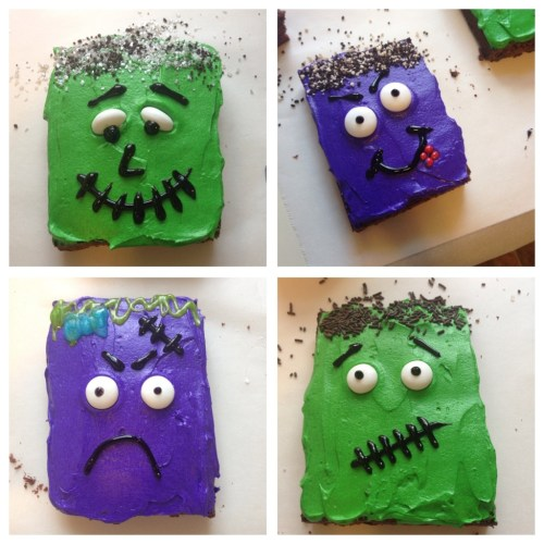 Monster Mash Fudge Brownies ~ Gluten Free