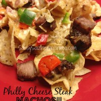 Grilled Philly Cheese Steak Nachos- Gluten Free
