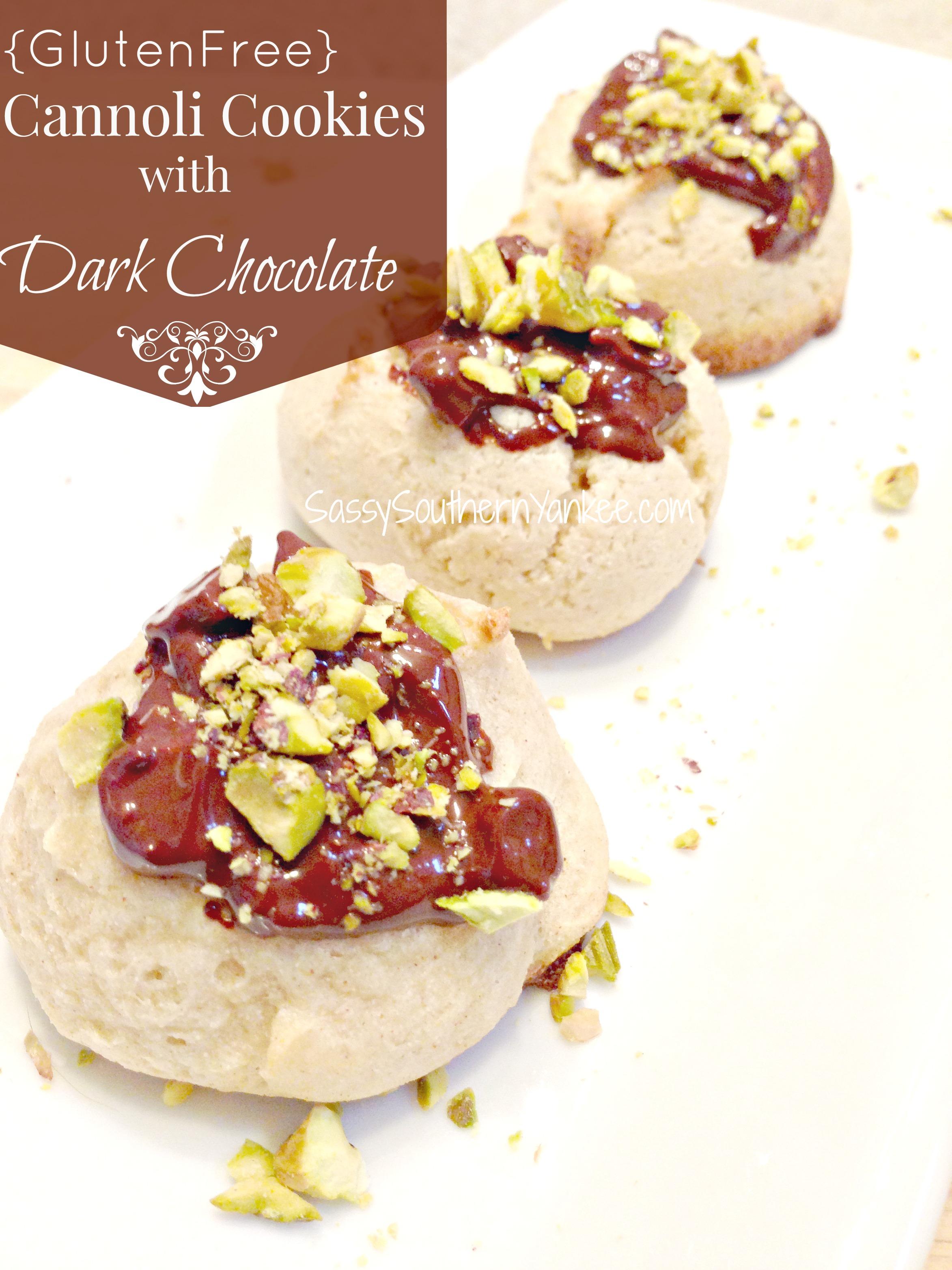 Gluten Free Cannoli Cookies with Dark Chocolate | Sassy ...