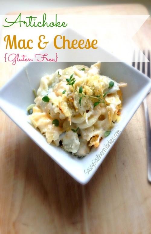 Artichoke Mac & Cheese {Gluten Free} title