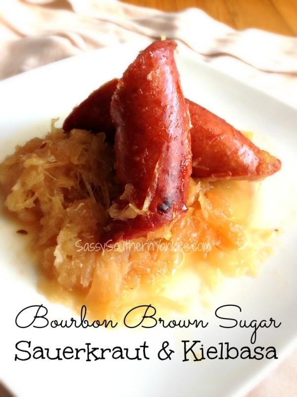 Bourbon Brown Sugar Sauerkraut and Kielbasa 2