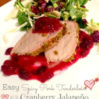 Easy Spicy Pork Tenderloin with Cranberry Jalapeño Compote