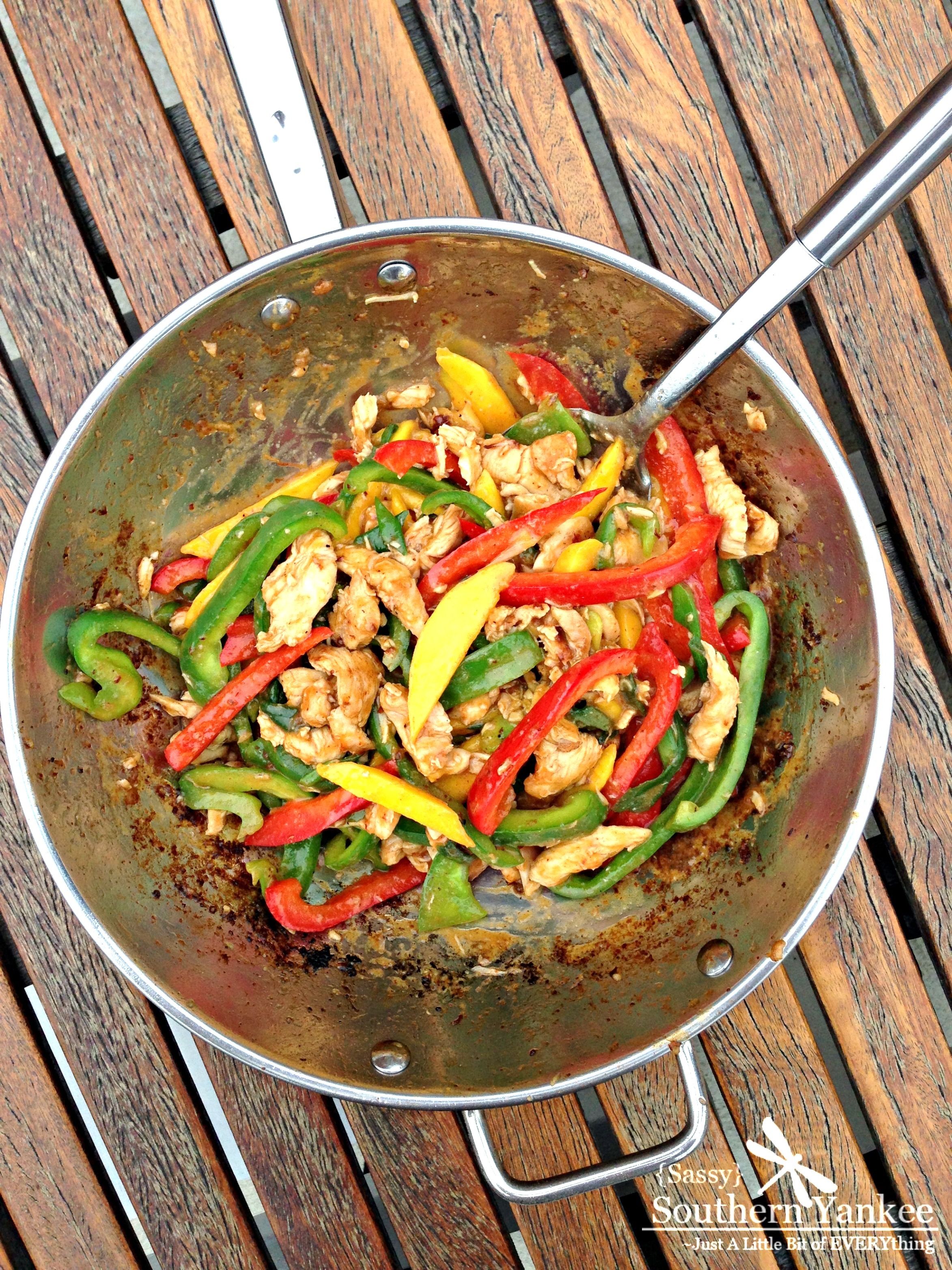 Easy Stir-Fried Chili Mango Chicken With Peppers (Gluten Free) | Sassy ...