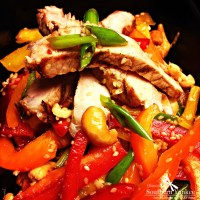 Multi Colored Pepper Salad with Sesame Ginger Dressing