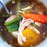 The Best Crock Pot No Noodle Chicken Soup -Whole 30 Approved