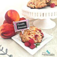 Raspberry Peach Scones {Gluten Free}